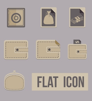 Vector set icons modes of money. Appartement