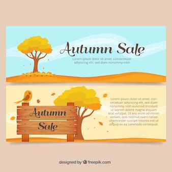Vente bannières de paysages d'automne