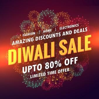 Vente diwali conception offre bannière