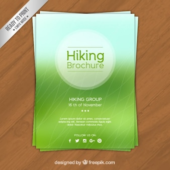 Vert brochure de randonnée