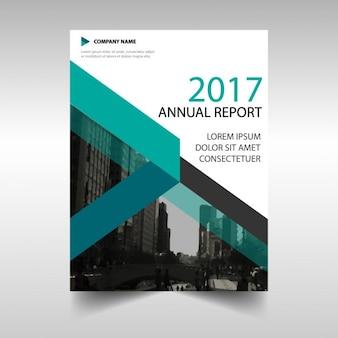 Vert créatif rapport annuel modèle de couverture du livre