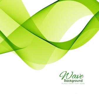 Vert, fond, conception élégante d'onde