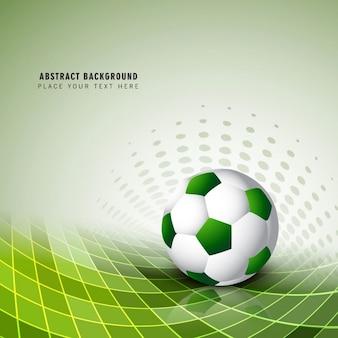 Vert fond de football