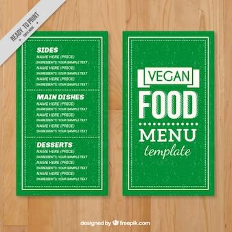 Vert menu vegan food