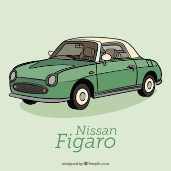 Vert voiture rétro