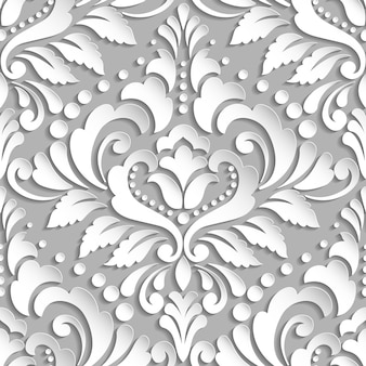 Victorian seamless vintage blanc ancien