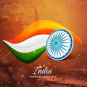 Vieux papier drapeau indien