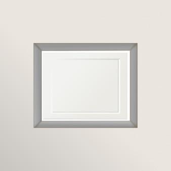 Vintage blanc cadre photo isolé avec chemin de détourage