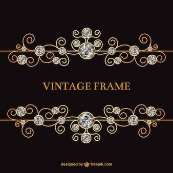 Vintage frame avec des bijoux
