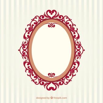 Vintage frame ovale