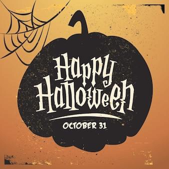 Vintage Halloween Pumpkin fond