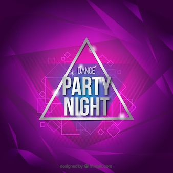 Violet danse party background