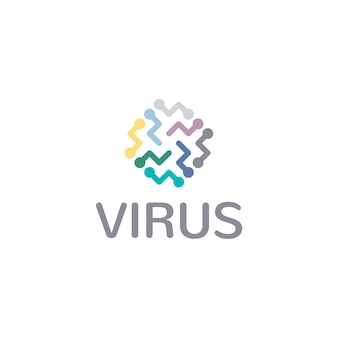 Virus Symbol Logo