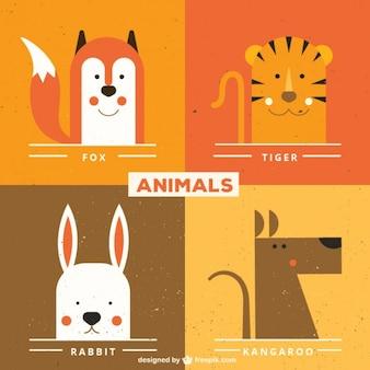 Visages d'animaux mignons