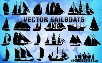 voiliers vecteur libre