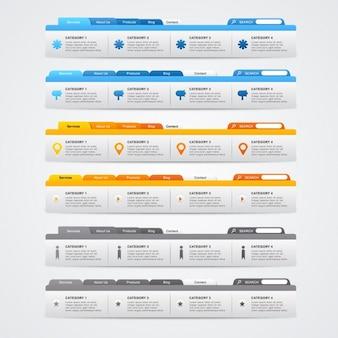 Web collection de modèles de menu