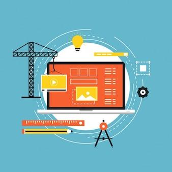 Web sous la conception de la construction