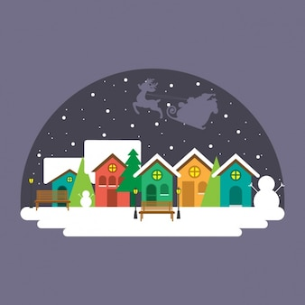 Winter background paysage urbain