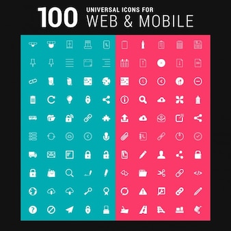 100 iconos blancos