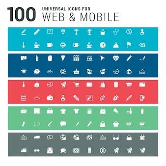 100 iconos de web y móviles