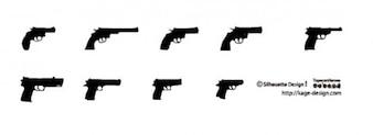 2 pistolas