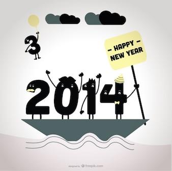 2014 diciendo adiós al 2013 diseño de tarjeta