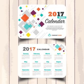 2017 calendario de bolsillo abstracto