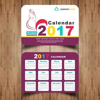 2017 calendario de bolsillo