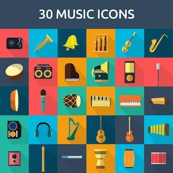 30 iconos de música