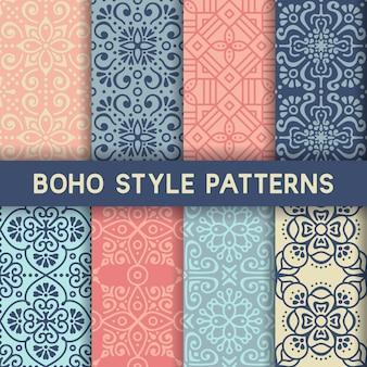 8 patrones con elementos ornamentales