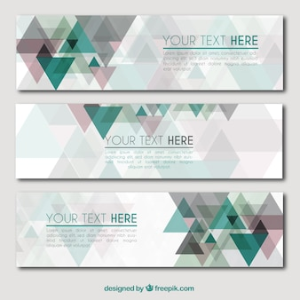 Abstrac Banners Paquete