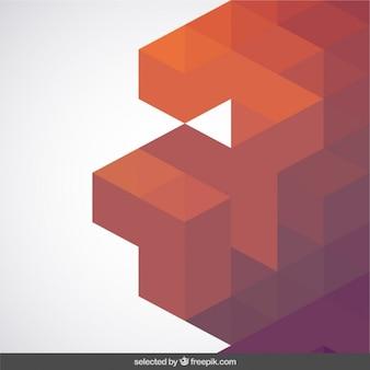 Abstracción de geometría en tonos cálidos