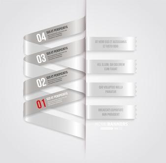 Abstracción opciones folleto de tendencia etiqueta