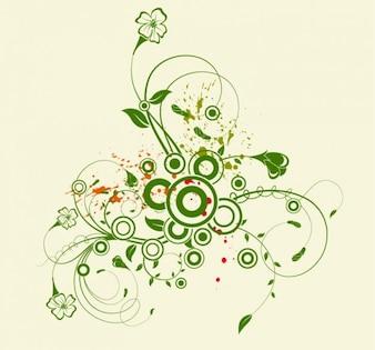 Abstract floral vector telón de fondo de flores