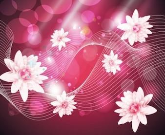 Abstract paquete flotante rosa ilustrador vectorial