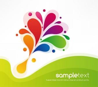 abstracta de colores de fondo de diseño floral