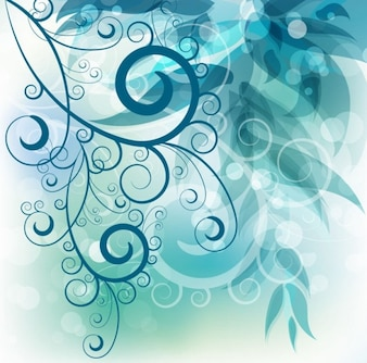 Abstracta remolino floral de fondo gráfico vectorial