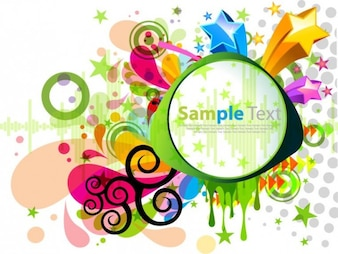 abstracto, moderno, colorido diseño gráfico vectorial