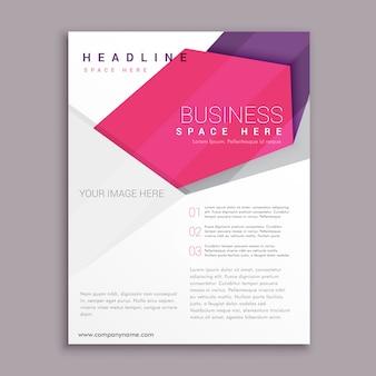 Abstracto, geométrico, negocio, aviador, cartel, folleto, diseño