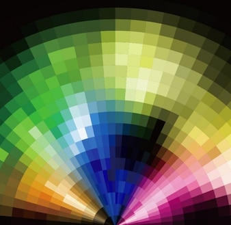 abstracto radial mosaico colorido del vector del fondo