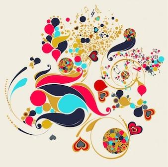 Abstracto remolinos de arte vectorial