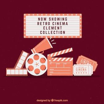 Accesorios de cine planos con cartel luminoso