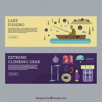 accesorios de la pesca y de aventura banderas