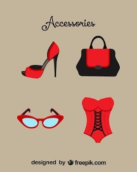 Accesorios moda, imagen vectorial