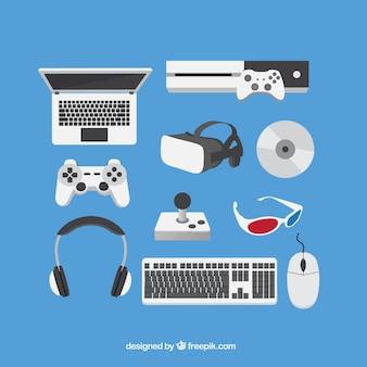 Accesorios planos para jugadores