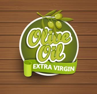 Aceite de oliva etiqueta virgen extra.