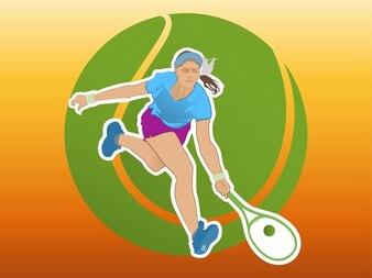 Activo tenis de niña juego vector logo