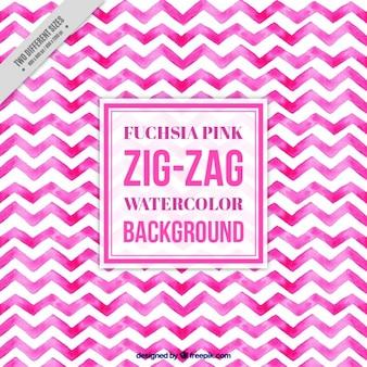 Acuarela de color rosa patrón de zig-zag