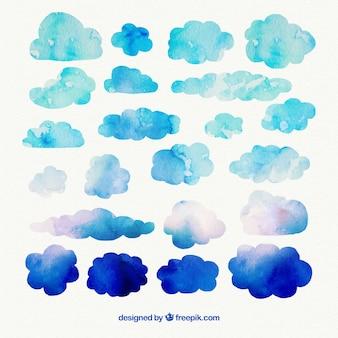 Acuarela nubes