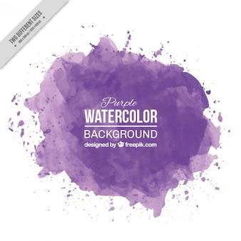Acuarela púrpura salpica el fondo